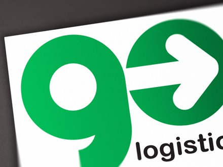 design logo brand go logistic courier